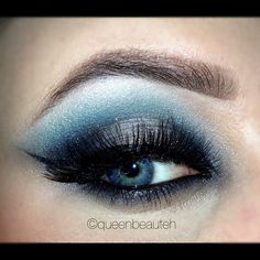 Photo by queenbeauteh- ice queen #blue #silver #smoky