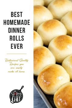 The Best Homemade Dinner Rolls Ever! Oven Recipes, Side Dish Recipes, Real Food Recipes, Great Recipes, Cooking Recipes, Favorite Recipes, Sauce Recipes, Side Dishes, Birthday Dinner Recipes