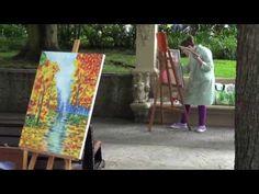 Concurso de pintura al aire libre en el Campo San Francisco.