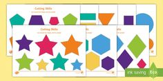 Cutting Skills Activity Sheets (Size & Shape Ordering) - An extremely useful resource, perfect for enhancing those fine motor skills. This can be used in the classroom or sent home for practise!