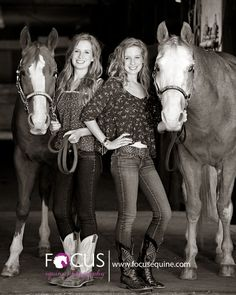 Brook and Bridget with Prime and Flame – Senior Portrait Session » Focus Equine Photography Blog