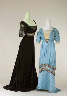 Evening Gown, 1912, Salon Redfern, Paris,  and Evening Gown, 1913, Salon Sophie  Oeldenberger