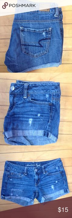 American Eagle Shorts Distressed shorts American Eagle Outfitters Shorts Jean Shorts