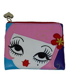 Loving this Pink Peggy Flat Coin Purse on #zulily! #zulilyfinds