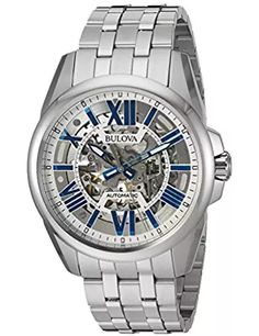 automatic skeleton watches for men Fine Watches, Cool Watches, Men's Watches, Wrist Watches, Watches Online, Jewelry Watches, Luxury Watch Brands, Luxury Watches For Men, Stainless Steel Watch