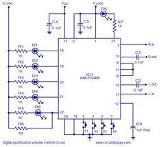 Digital Volume Control - circuit diagrams, schematics ...
