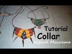 bijouX Macrame - Tutorial n#1 collar macrame / DIY Necklace - YouTube