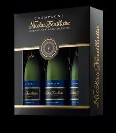 Champagne Nicolas Feuillatte Trio Gift Set of Brut Réserve