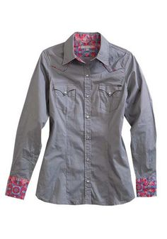 14d5b758a Ladies' Long Sleeve Tin Haul Shirt Tin Haul Boots, Motorcycle Jacket, Long  Sleeve