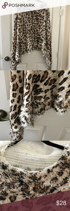 Leopard Print Poncho/Cape Leopard Print Poncho/Cape, 100% Acrylic. Very pretty and stylish. Leopard never goes out of style! One size. NWOT india Boutique Sweaters Shrugs & Ponchos
