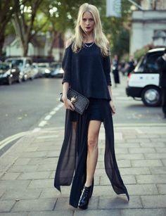 Poppy Delevigne..nice skirt!