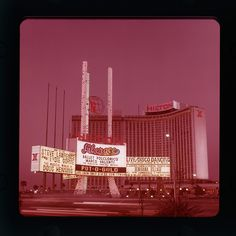 Vintage Las Vegas.  Sign was destroyed by high winds in 1993