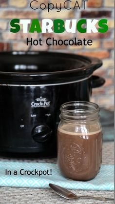 Warm up with a cup of hot chocolate! This Starbucks copycat hot chocolate recipe can be done in a crockpot.