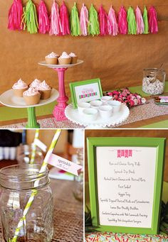 Cupcake decorating & sprinle bar for a Baby Sprinkle