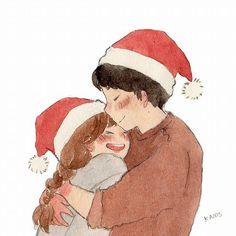 Love Cartoon Couple, Cute Love Cartoons, Cute Couple Art, Anime Love Couple, Cute Anime Couples, Cute Kawaii Drawings, Kawaii Art, Anime Amor, Dibujos Cute