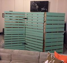 Wooden Pallet Room Divider | Pallets Furniture Designs