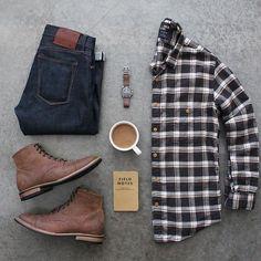 ☕⌚️ Denim: @katobrand Boots: @junkardcompany Shirt: @jcrewmens Watch: @omega