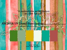 AW2018/2019 Trend Forecasting for Women, Men, Sport, Intimate Apparel - A contradictive earthy texture on Linen surface www.JudithNg.com