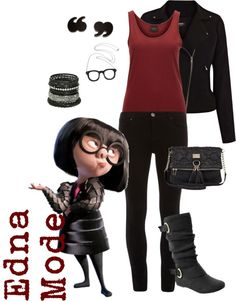 """""""Edna Mode"""" by saeabryony on Polyvore"""