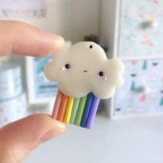 #kawaii #charms #polymer #clay #cloud #rainbow