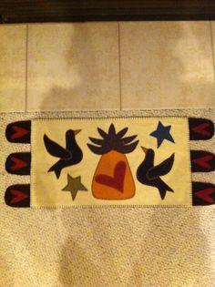 Pineapple penny rug