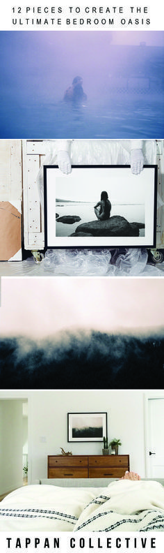 Looking for interior decor inspiration? Create the perfect bedroom oasis with beautiful artwork. From serene landscapes to black and white abstract paintings, explore Tappan Collective for the perfect piece of art to express yourself. A bedroom design you'll love.