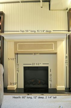 Faux fireplace dimensions