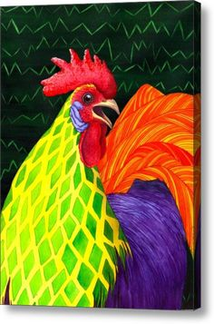 Cock A Doodle Dude Ii Acrylic Print By Catherine G Mcelroy