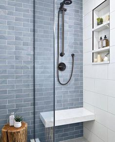 dream bathroom interior planning #Bathroomremodel Interior Simple, Luxury Interior, Diy Interior, Bad Inspiration, Bedroom Inspiration, White Bathroom, Minimal Bathroom, Glass Tile Bathroom, Ceramic Tile Bathrooms