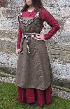 Hangeroc - Wool Viking Apron Dress. $95.00, via Etsy.