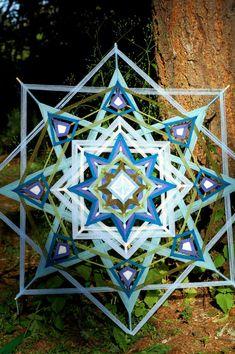 oeil de 48 pouces CUSTOM fil mandala ojo de dios par GoldenGlade