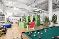 Chopping out time for work and recreation!  Google Office Design and Decorating in Pittsburgh Pennsylvania – Comfort Place of Work