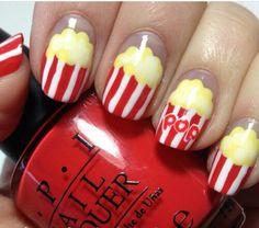 Popcorn Nail Art!