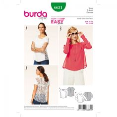 T-Shirt n°6631 - Collection Burda Printemps/Eté 2016