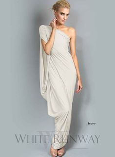 Creams, Bride To Be Dresses, One Shoulder Dress