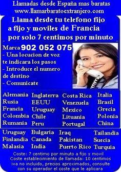 Comunicate facilmente con moviles de Francia por un coste muy barato, la solucion perfecta para hablar