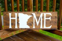 ANY STATE l Rustic Wooden Home Wall Sign Large l Entryway Sign l Wall sign l Wall Decor l Home Sweet Home l Gift under 50 l…