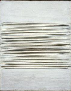 Piero Manzoni ~ Achrome, 1959 (china clay on canvas)