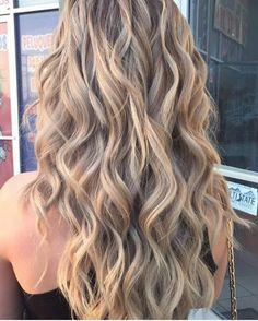 Blonde hair highlights
