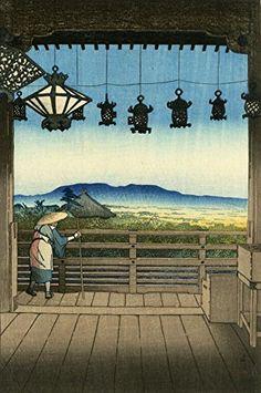 "Japanese Art Print ""Nigatsu Hall, Nara"" by Kawase Hasui. Shin Hanga and Art Reproductions http://www.amazon.com/dp/B01DSOS786/ref=cm_sw_r_pi_dp_Nf5dxb1RGVR28"