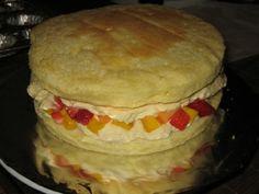 Sponge Cake Whipped Cream