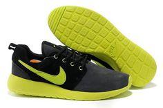 size 40 9b90d 61390 Authentic Nike Shoes For Sale Shop Nike Roshe Run Mens Black Gray Green  Roshe  Run -