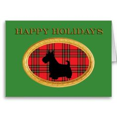 Scottish Terrier  Christmas Card