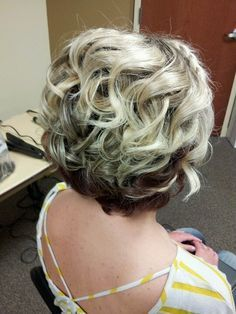 Short Curly Wavy Wedding Hairstyle