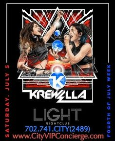 Krewella at LIGHT Las Vegas Nightclub Saturday July 5th. Contact 702.741.2489 City VIP Concierge for Table and Bottle Service, Tickets and the BEST of Any & Everything Fabulous 4th of July weekend Las Vegas!!! #LIGHTlasVegas #VegasNightclubs #LasVegasBottleService #4thofJulyWeekendLasVegas #CityVIPConcierge *CALL OR CLICK TO BOOK* http://cityvipconcierge.wantickets.com/Events/157663/Krewella-at-LIGHT-Las-Vegas/