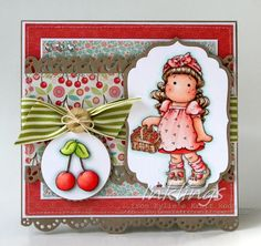 Tilda with Cherries, Cozy Family Collection, Magnolia stamps