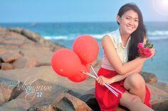#red #ballons #flower