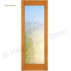 Solid Single Panel Door With Glass - Glass Panel Doors - Al Habib Panel Doors Glass Panel Door, Panel Doors, Solid Doors, Modern Glass, Interior Design Kitchen, Decor, Decoration, Kitchen Interior, Decorating