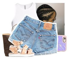 """""""Quick set. (I like it tho)"""" by theyknowtyy ❤ liked on Polyvore featuring H&M, Casetify, MICHAEL Michael Kors and Levi's"""