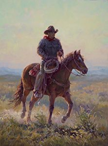 Miles to Go by artist Shawn Cameron. #westernart found on the FASO Daily Art Show - http://dailyartshow.faso.com